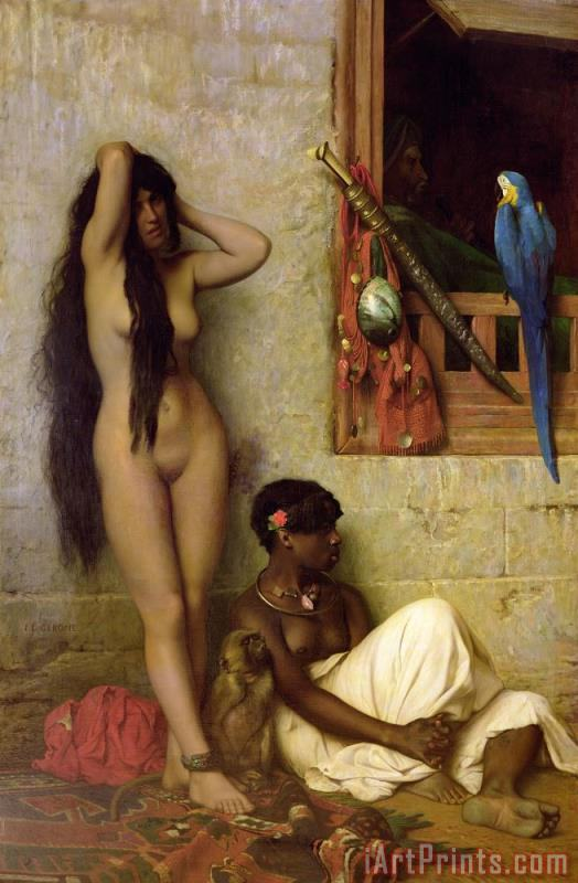 Jean Leon Gerome The Slave for Sale Art Print