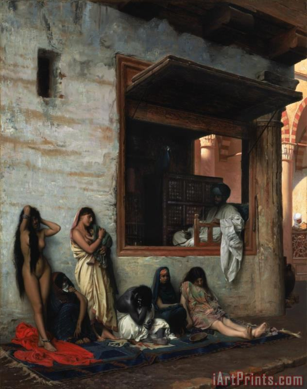 The Slave Market painting - Jean Leon Gerome The Slave Market Art Print