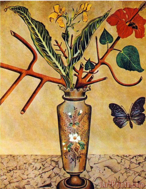 Joan Miro Flowers And Butterfly Art Print