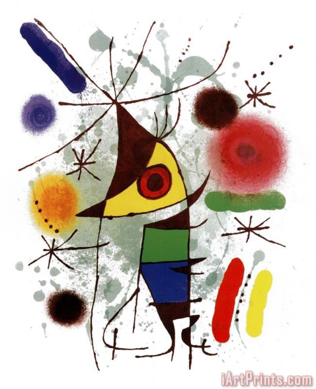 Le Chanteur painting - Joan Miro Le Chanteur Art Print