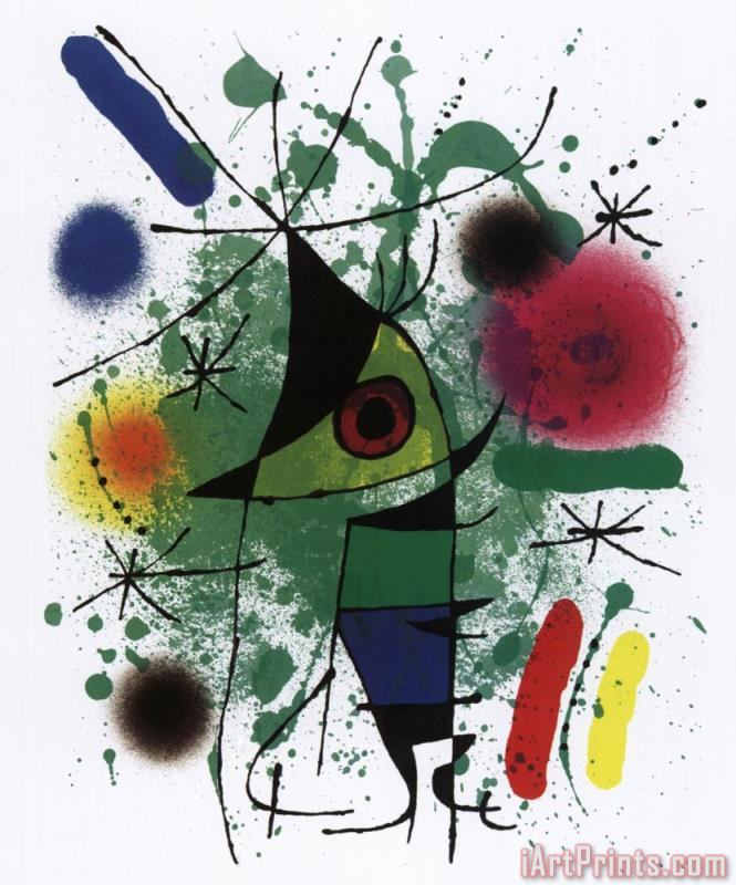 Singing Fish painting - Joan Miro Singing Fish Art Print