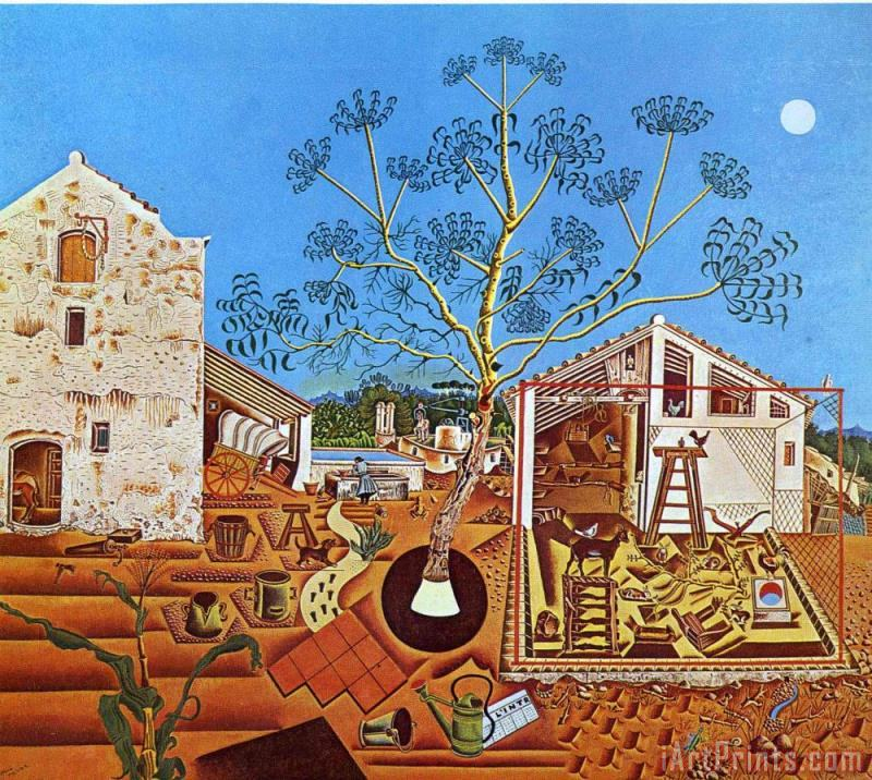 Joan Miro The Farm 1922 Art Print