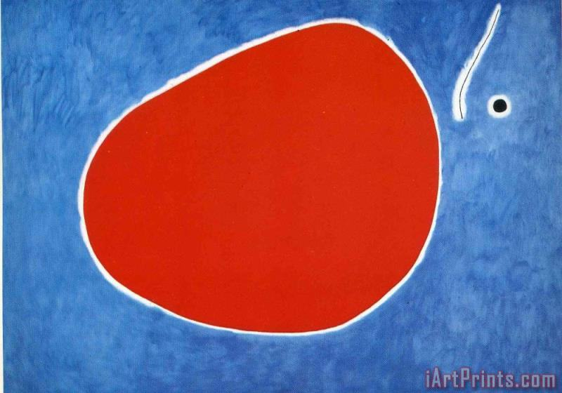 Joan Miro The Flight of The Dragonfly in Front of The Sun Art Print