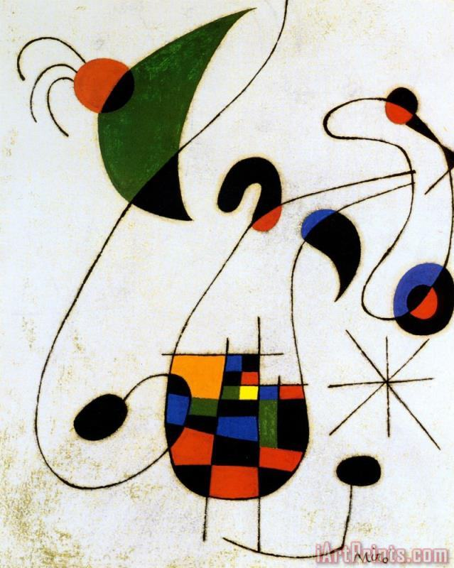 Joan Miro The Melancholic Singer Art Print
