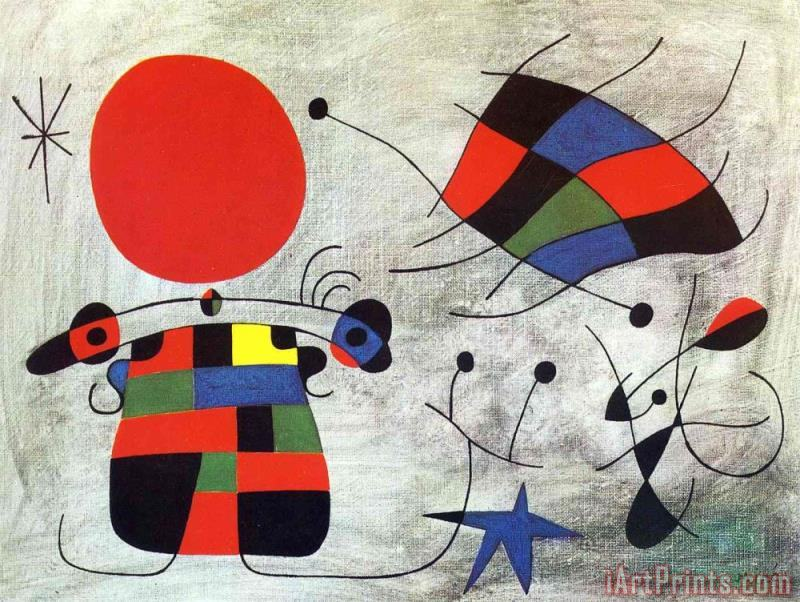 The Smile of The Flamboyant Wings painting - Joan Miro The Smile of The Flamboyant Wings Art Print
