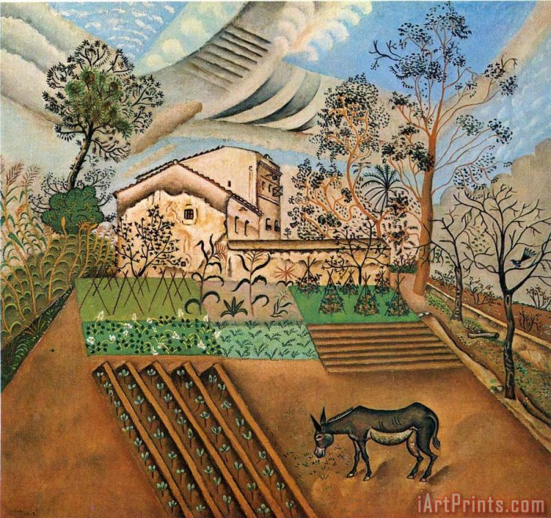 Joan Miro The Vegetable Garden with Donkey Art Print
