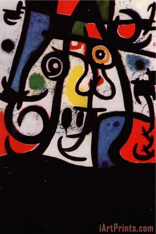 Joan Miro Woman And Birds, 1968 Art Print