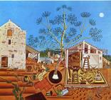 The Farm 1922 by Joan Miro