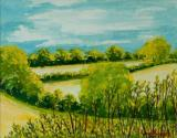 August Landscape Suffolk by Joan Thewsey