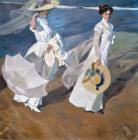 Strolling along the Seashore by Joaquin Sorolla y Bastida