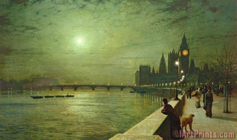 John Atkinson Grimshaw Reflections on the Thames Art Print
