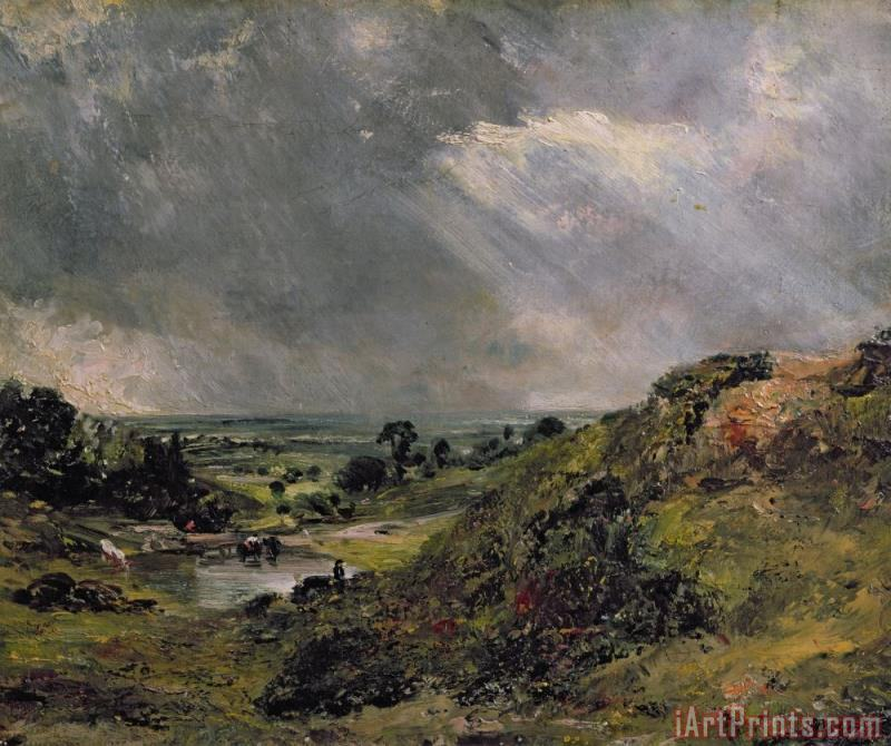 Hampstead Heath painting - John Constable Hampstead Heath Art Print