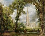 View of Salisbury Cathedral from the Bishop's Grounds by John Glover