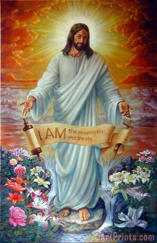 I AM the Resurrection painting - John Lautermilch I AM the Resurrection Art Print