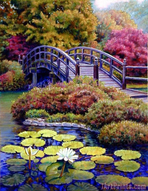 Japanese Bridge painting - John Lautermilch Japanese Bridge Art Print