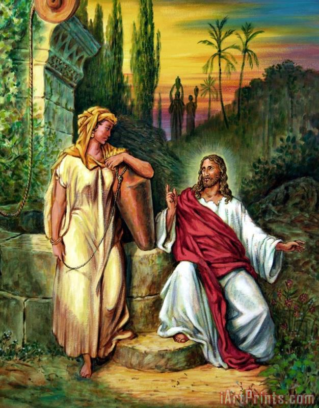 Jesus and the Woman at the Well painting - John Lautermilch Jesus and the Woman at the Well Art Print