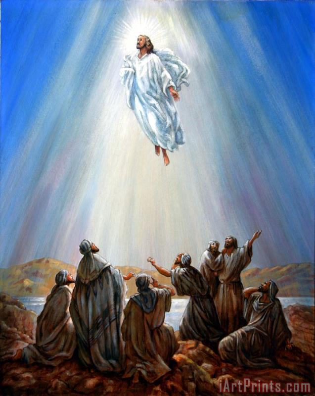 Jesus Taken up into Heaven painting - John Lautermilch Jesus Taken up into Heaven Art Print