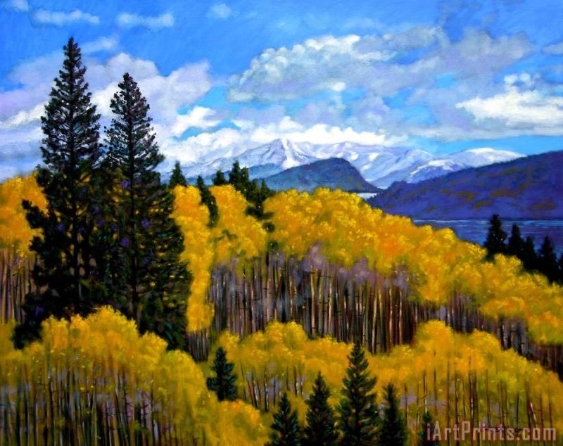 Natures Patterns - Rocky Mountains painting - John Lautermilch Natures Patterns - Rocky Mountains Art Print