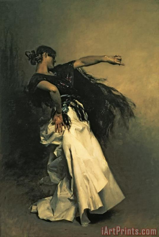 The Spanish Dancer painting - John Singer Sargent The Spanish Dancer Art Print