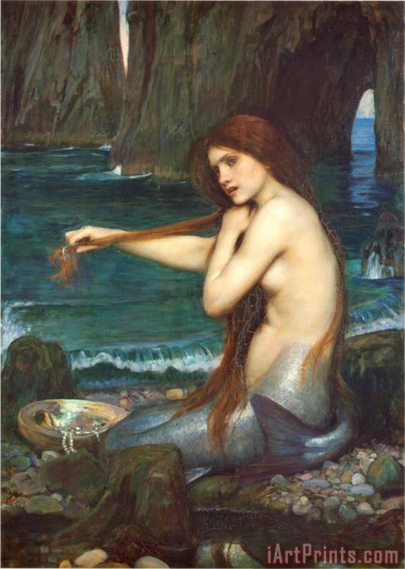 John William Waterhouse A Mermaid 1900 Art Print