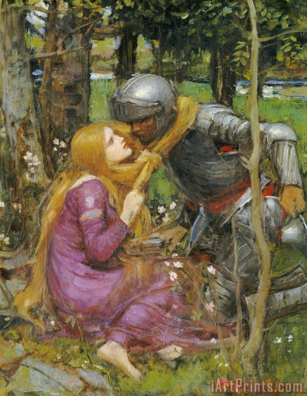 John William Waterhouse A Study For La Belle Dame Sans Merci Art Print