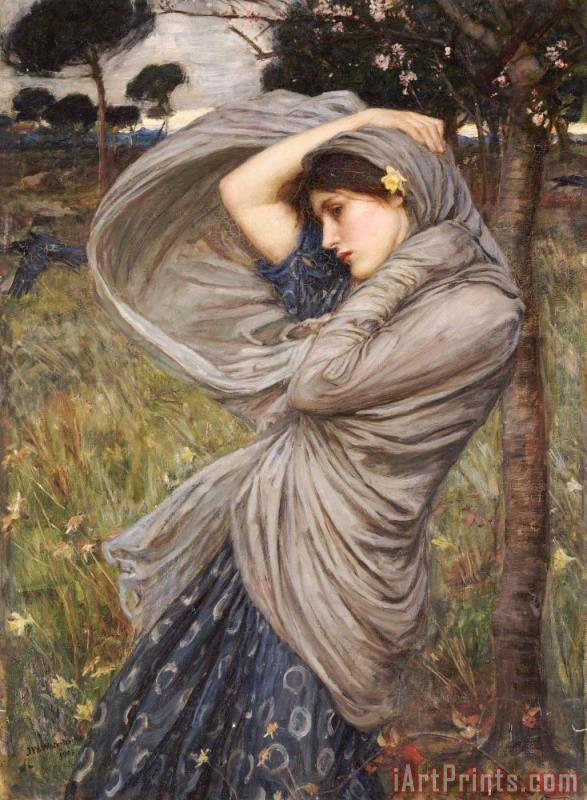 Boreas painting - John William Waterhouse Boreas Art Print