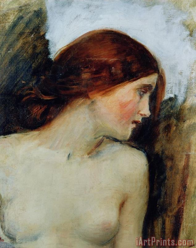 John William Waterhouse Study for the Head of Echo Art Print