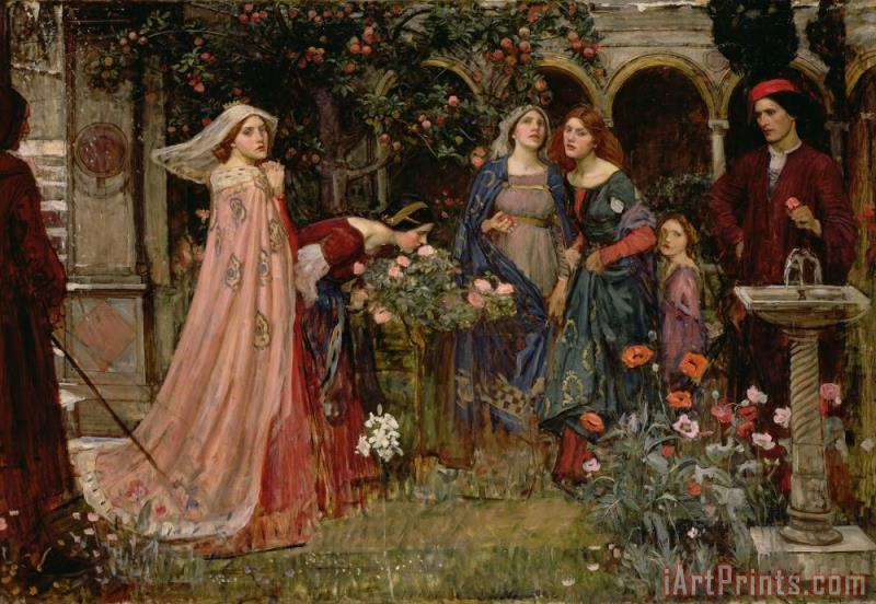 John William Waterhouse The Enchanted Garden Art Print