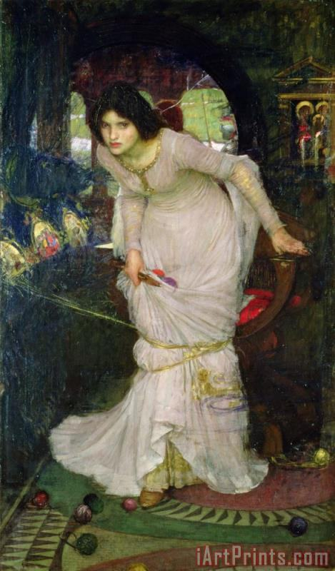 John William Waterhouse The Lady of Shalott Art Print