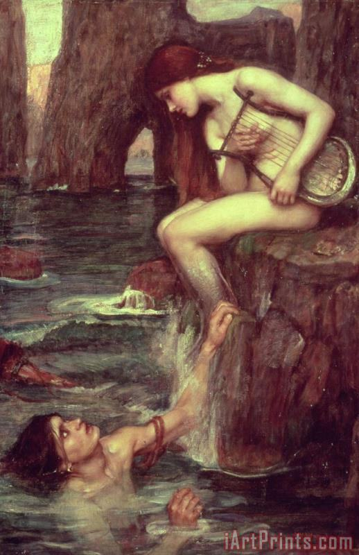 John William Waterhouse The Siren Art Print