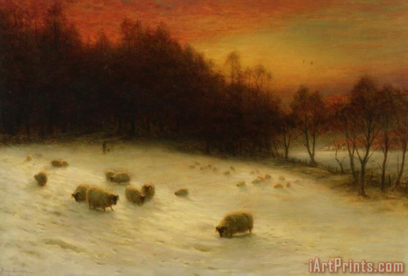 Joseph Farquharson When The West with Evening Glows Art Print