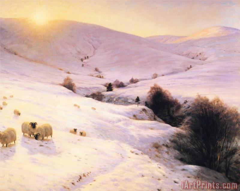 And The Sun Peeped O'er Yon Southland Hills painting - Joseph Farquharson And The Sun Peeped O'er Yon Southland Hills Art Print