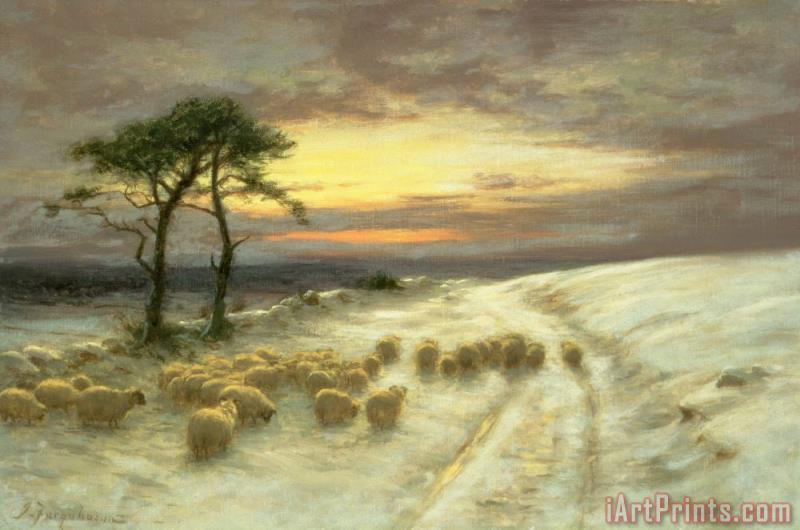 Joseph Farquharson Sheep in the Snow Art Print