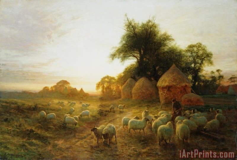 Joseph Farquharson Yon Yellow Sunset Dying in the West Art Print