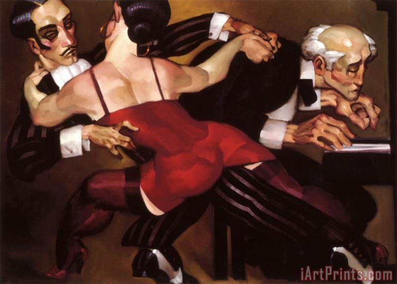 The Last Tango painting - Juarez Machado The Last Tango Art Print