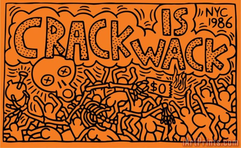 Art Prints Keith Haring Crack Is Wack Art Print
