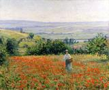 Woman in a Poppy Field by Leon Giran Max