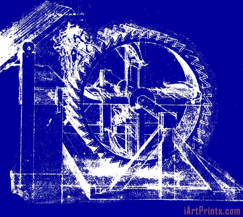 Leonardo da Vinci Leonardo Machine Blueprint Art Print