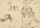 Drawings Of Geometric Figures List Of Botanical Terms Sketches Of Construction Of Onager by Leonardo da Vinci