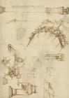 Screw Breech Bombard Decorative Geometrical Drawings Framework Of Self Supporting Military Bridge by Leonardo da Vinci