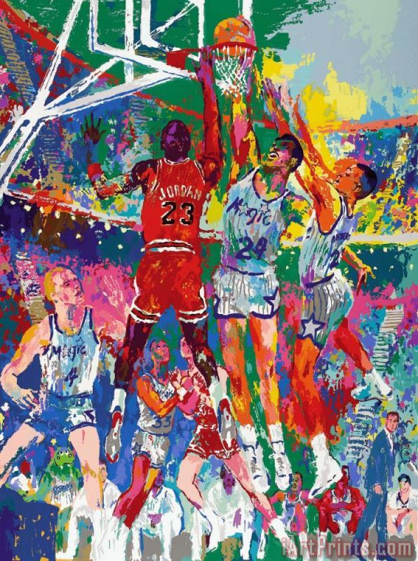 Leroy Neiman Basketball Art Print