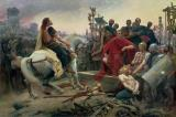 Vercingetorix throws down his arms at the feet of Julius Caesar by Lionel Noel Royer