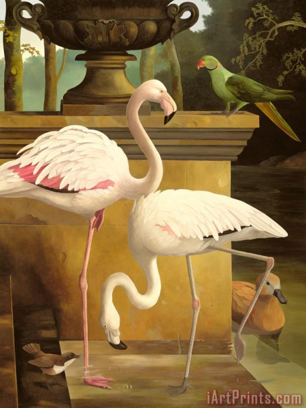Lizzie Riches Flamingos Painting Flamingos Print For Sale