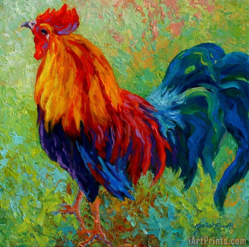 Marion Rose Band Of Gold - Rooster Art Print