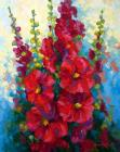 Hollyhocks by Marion Rose