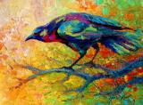 Tree Paintings - Tree Talk - Crow by Marion Rose