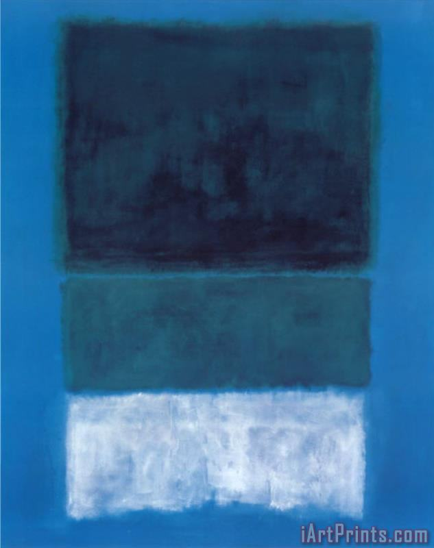 Mark Rothko No 14 White And Greens in Blue painting - No 14 White ...
