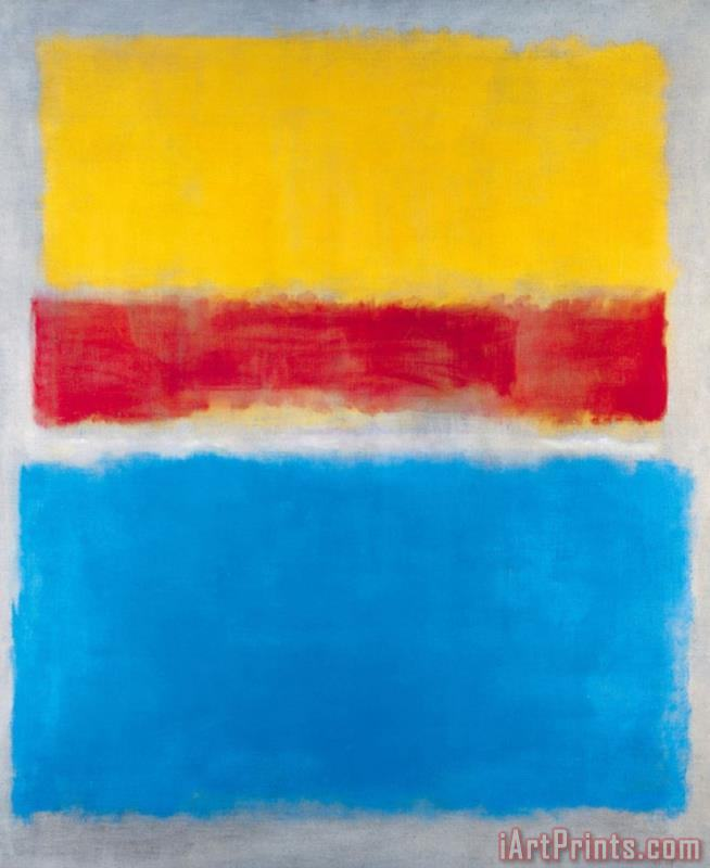 Mark Rothko Untitled Yellow Red And Blue painting - Untitled Yellow ...