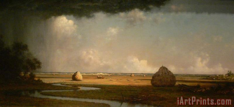 Marshfield Meadows, Massachusetts painting - Martin Johnson Heade Marshfield Meadows, Massachusetts Art Print