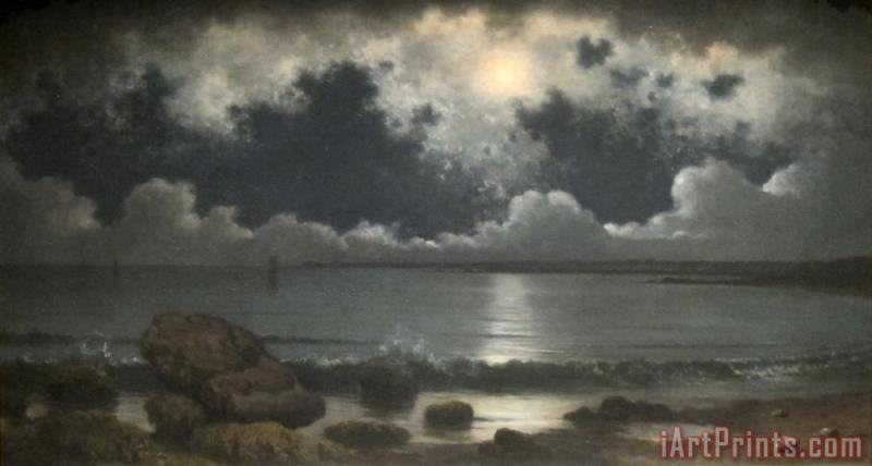 Martin Johnson Heade Point Judith, Rhode Island Art Print